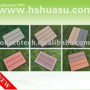 Popular plástico de madeira decking composto de piso - iso9001/ ce/ intertek