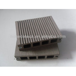 Anhui Ecotech WPC hollow outdoor decking 100*25mm CE Rohus ASTM ISO 9001 approved