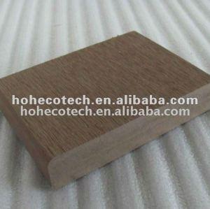 decking composé extérieur plein/plancher respectueux de l'environnement du bois de construction 140x25mm WPC en bois de plancher interne et externe