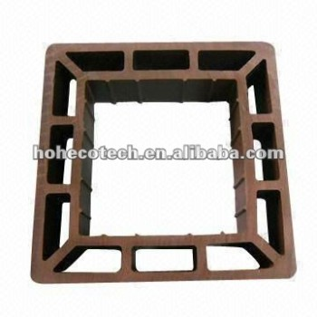 Recycled high quality outdoor decorative wood plastic composite wpc fencing/railing post