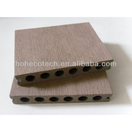 Anhui Ecotech WPC hollow outdoor decking 138*23mm CE Rohus ASTM ISO 9001 approved