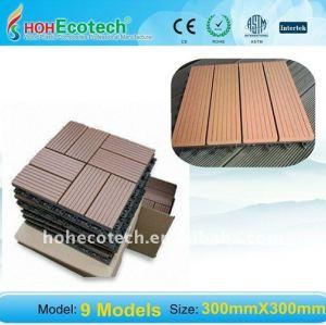 экологически чистые, 100% переработке 300*300mm шлифования wpc деревянный пластичный составной настил/половые доски композитный палуб