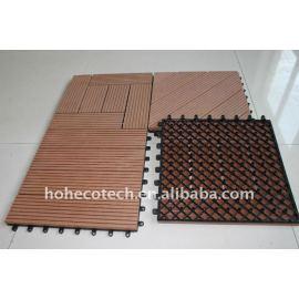WATERPROOF INdoor/outdoor /household flooring tiles QUALITY warranty wpc plastic composite flooring wpc tiles