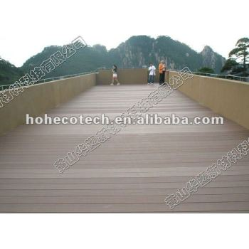 High quality of wood plastic composite(wpc) decking, wpc outdoor flooring, exterior wpc decking board