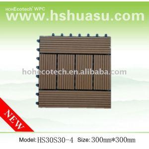 CE WPC composite interlock tiles outdoor diy decking