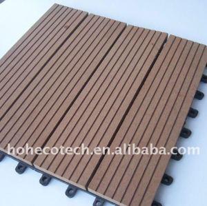 Decking WPC de wpc d'usine de la Chine parquetant le plancher en bois de plancher en plastique en bois décoratif de matériaux