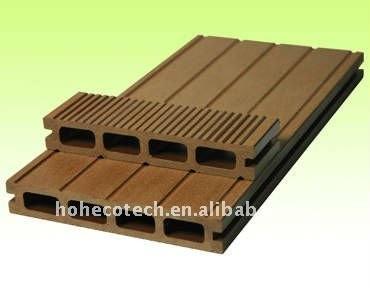 Decking composé en plastique en bois de WPC/plate-forme en bois wpc du plancher 150*25mm (CE, ROHS, ASTM, OIN 9001, OIN 14001, Intertek)