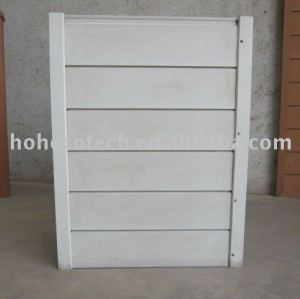 Wpc wood plastic composite pannello murale/rivestimento - bianco