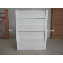 wpc wood plastic composite wall panel/cladding-white