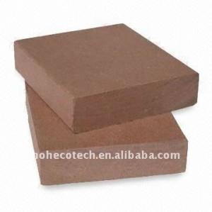 90*25mm 7 colori a scegliere di legno wpc plastico composito decking/pavimentazione bordo piano ( ce, rohs, astm ) piano decking di wpc
