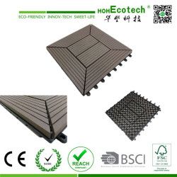 Waterproof outdoor interlocking wpc diy tiles