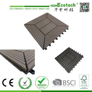 Waterproof outdoor interlocking wpc diy tiles