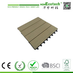 Garden swimming pool  interlocking wpc DIY decking tile