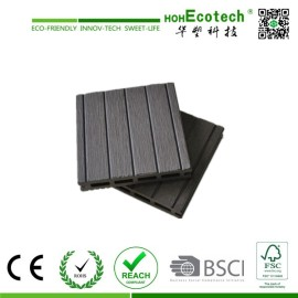 Grey Color Hollow Composite WPC Plastic Decking Board