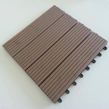 Easy Installation Wood Plastic Composite Decking Tiles