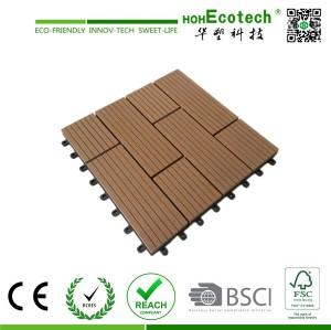 Wood Plastic Composite Outdoor Deck Tiles