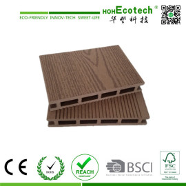 CE certificated wood plastic composite decking