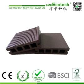 100x25mm outdoor   Hollow wpc decking /flooring board