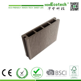 small groove anti-silp wpc decking board/wood plastic composite flooring