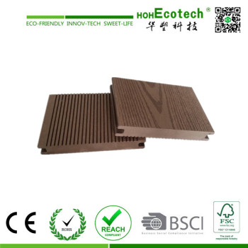 high density,durable wood plastic composite decking/wpc solid decking