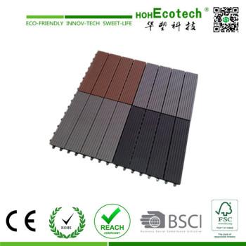 wpc decking tile 300*300mm/WPC interlocking tile