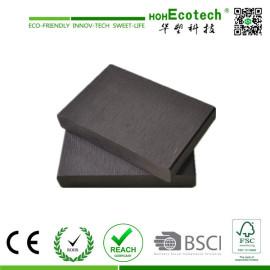 dark grey wpc solid composite deck/outdoor garden plastic wood decking