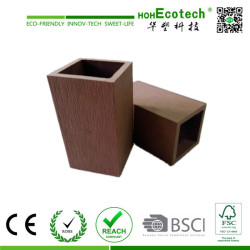 hollow wood plastic composite fencing post/light weight wpc post