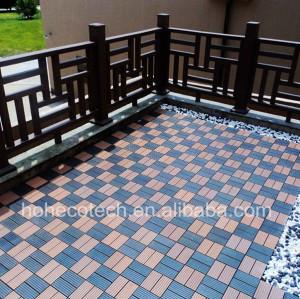 wood polymer WPC swimming pool decking tiles
