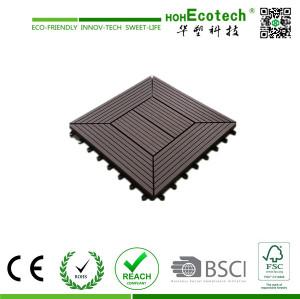 wpc interlocking tile,wpc diy decking tile