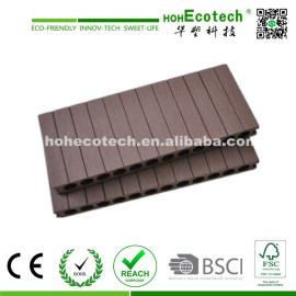 wide wpc hollow decking/wood plastic composite flooring arround swimming pool