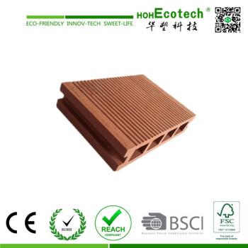 moisture resistant wpc hollow decking/wood plastic composite flooring