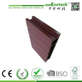 brown wpc hollow decking/wood plastic composite flooring