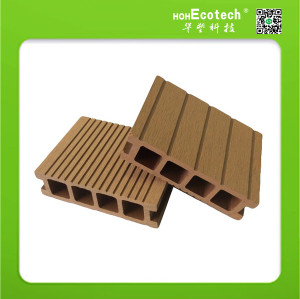 Exterior WPC Decking Hollow Patio Plastic Wood Boards