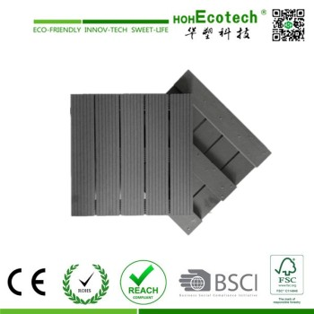Hot Sell Outdoor WPC Tiles DIY WPC Interlocking Tiles