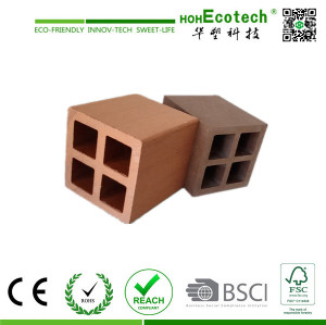 hollow wood plastic composite fencing post/wpc pergola post