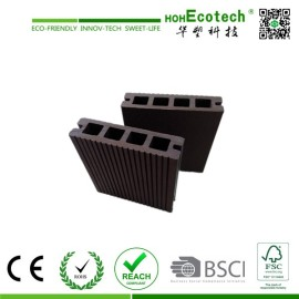 Grooved Hollow Wood Plastic Composite Decking , Wood Color WPC Board,outdoor decking