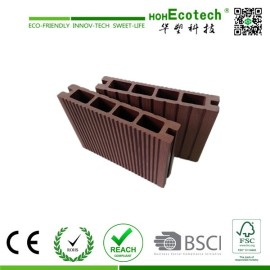 Exterior Wide Groove WPC Decking Board , Hollow Decking Plastic Composite Deck flooring