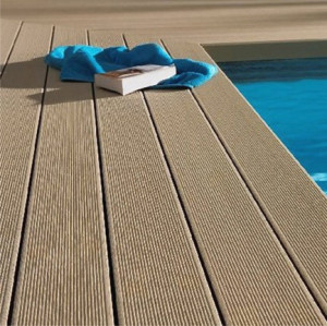 Swimming Pool WPC Decking , Plastic Composite Profiles , Huasu WPC Flooring