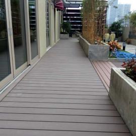 Balcony barefoot decking wood plastic composite