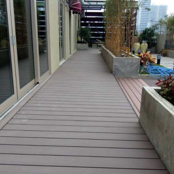 Balcony barefoot decking wood plastic composite