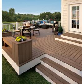 Grooved composite decking ,  wpc decking floor