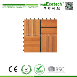 Hot Sale Eco-friendly WPC Leisure DIY Decking Tiles
