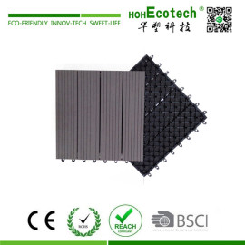 Interlocking wooden composite plastic base diy deck tile