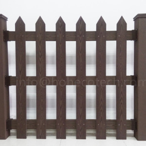 High anti-wind level wood plastic composite fence