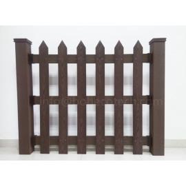 High anti-wind level wood plastic composite fence
