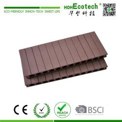 250mm width grooved wood composite decking floor