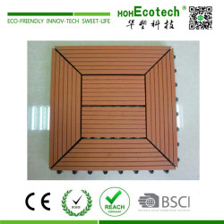 Interlocking wood plastic balcony DIY deck tile