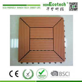 Interlocking wood plastic balcony DIY deck tile