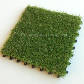 Outdoor interlocking eco-friendly  artificial grass tile