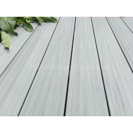 Outdoor ultra-low maintenance wood plastic composite decking